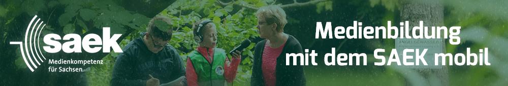 Medienbildung mit dem SAEK Mobil, Kinder interviewen eine Naturschutzexpertin