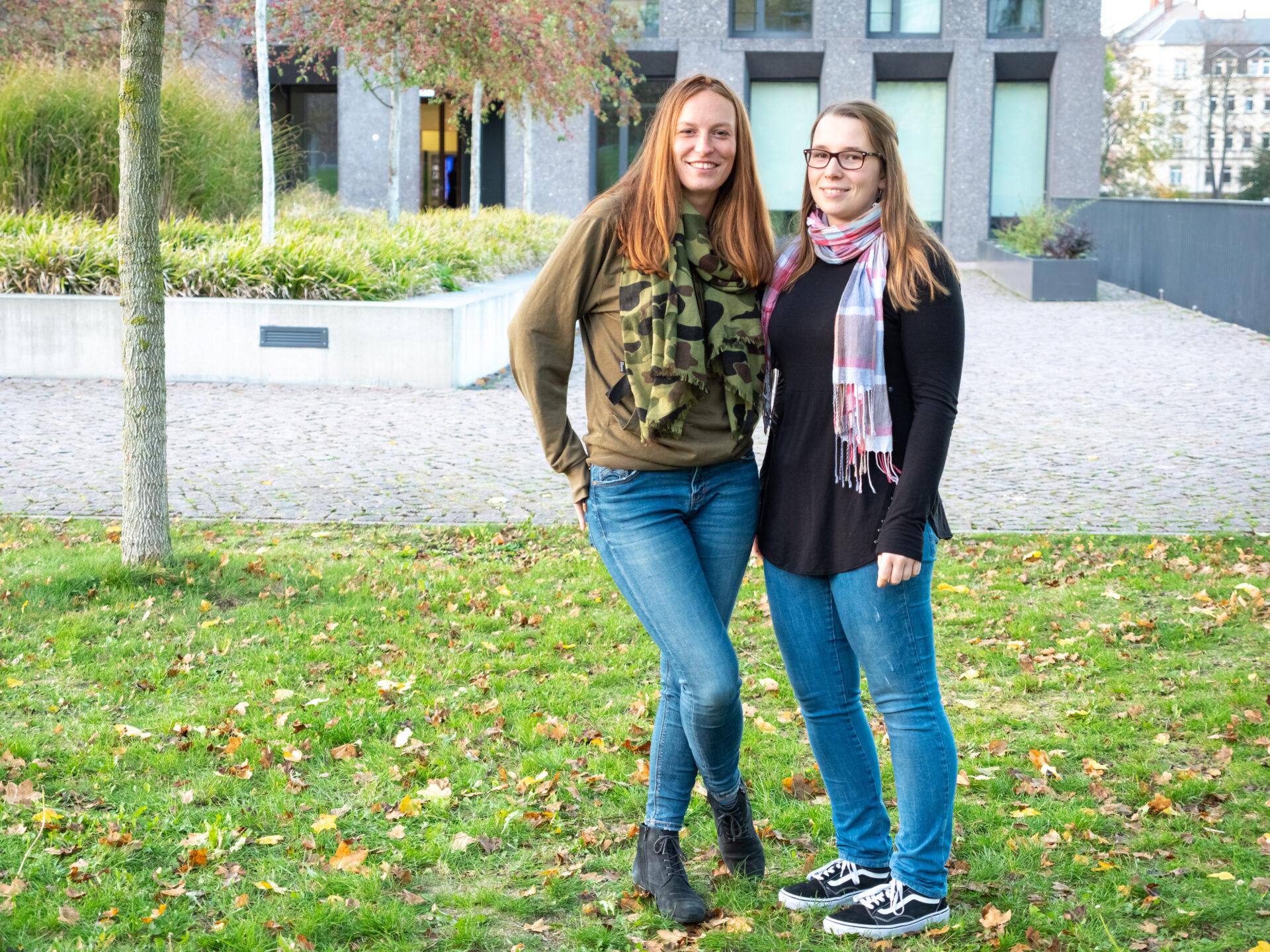 Das Crowdfundingteam der Hochschule Mittweida: Luise Geck und Vivian Kretzschmar