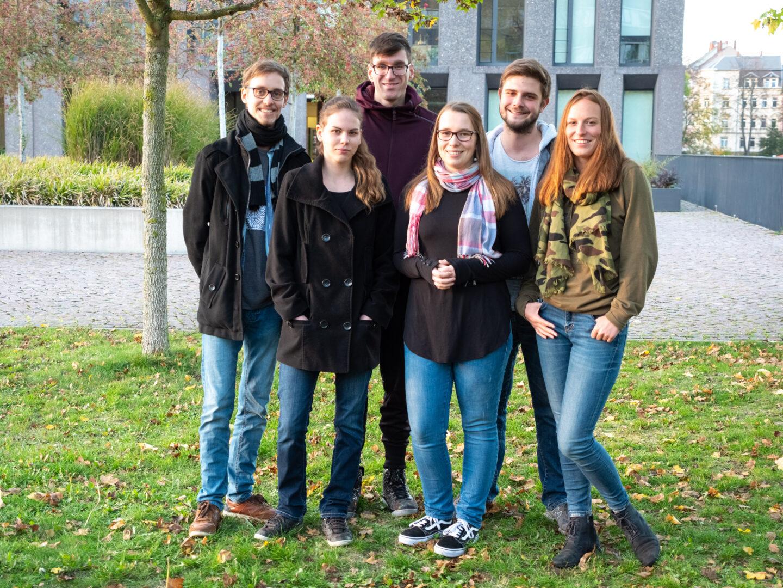 Nicklas Trost, Isabel Micha, Luise Geck, Tobias Stedtler, Vivian Kretzschmar und Marius Knöfler