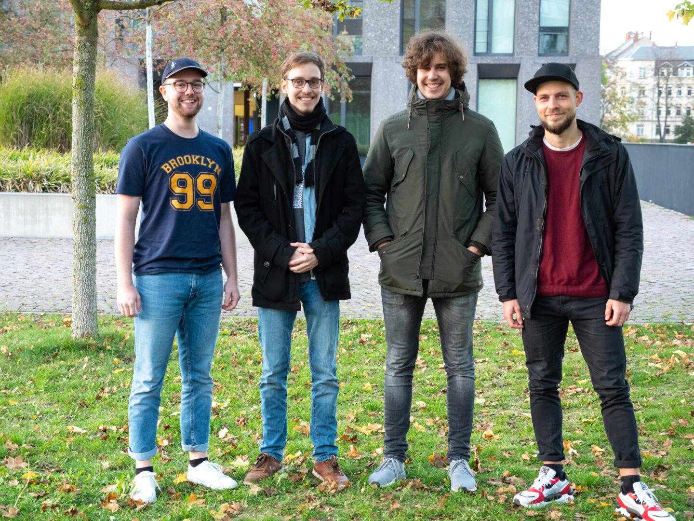 Julian Krug, Florian Schroeder, Johannes Christoph und Marius Knöfler