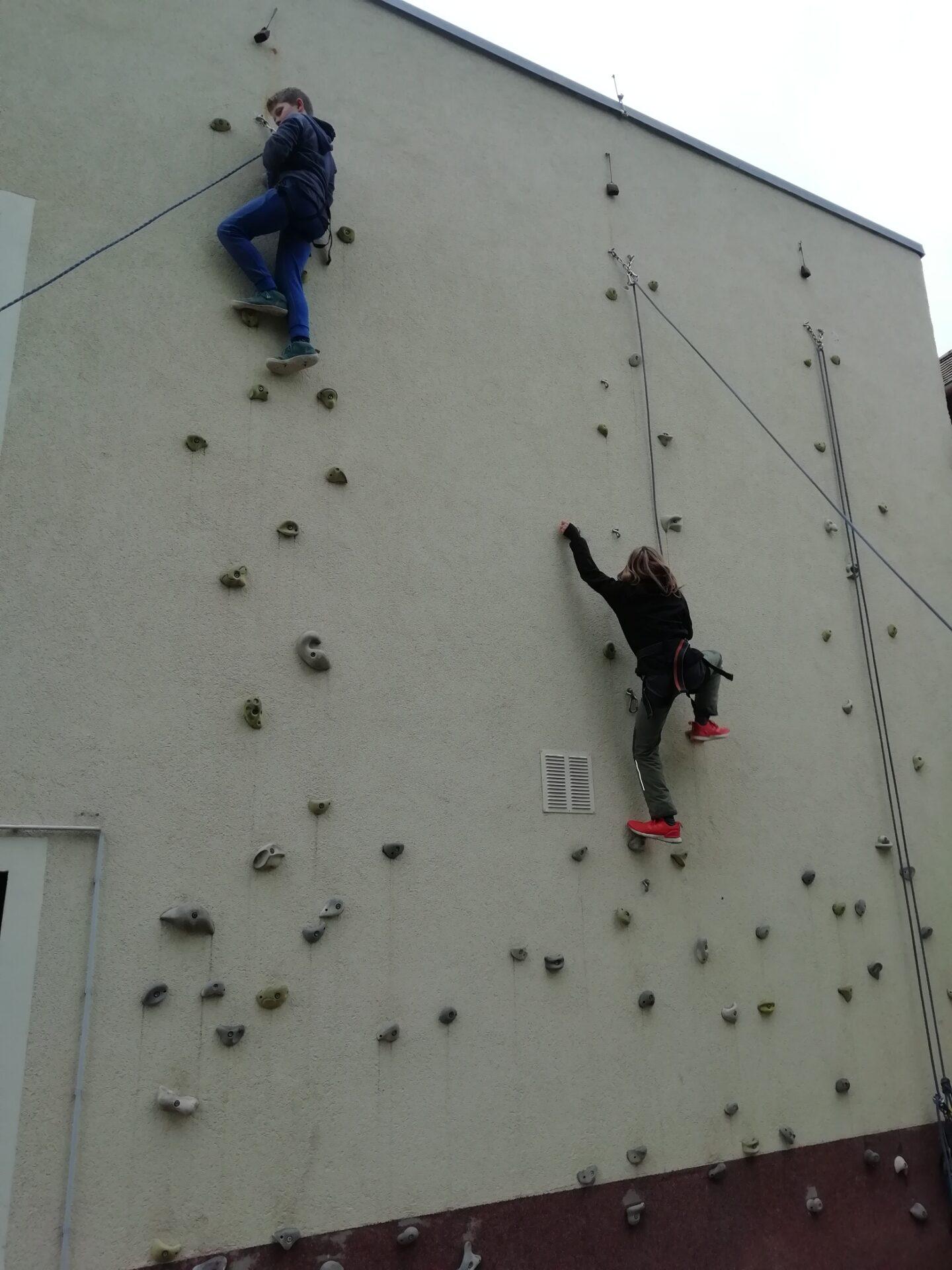 Klettern an der Kletterwand